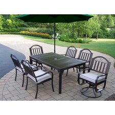 Rochester 7 Piece Swivel Dining Set with Cushions