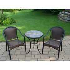 Stone Art 3 Piece Dining Set