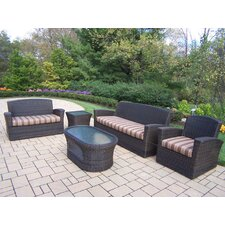 Savannah 5 Piece Lounge Seating Group with Cushions