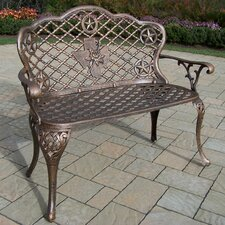 Texas Rose Aluminum Garden Bench