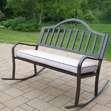 Modern Rochester Metal Rocking Garden Bench