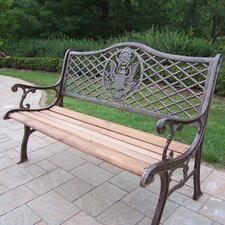 Wonderful American Eagle Wood and Cast Iron Park Bench