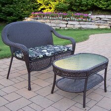 Discount Elite Resin Wicker 2 Piece Lounge Seating Group Set