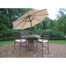 Best #1 Elite 5 Piece Bar Set with Cushions and Umbrella