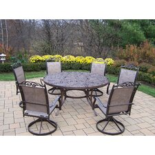 Wonderful Mississippi 7 Piece Sling Dining Set