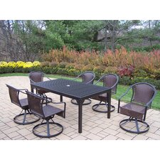 Rochester 7 Piece Swivel Dining Set