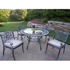 Oakland Living Mississippi Hummingbird 5 Piece Dining Set with Cushions