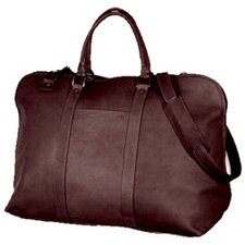 """19"""" Large Opening Leather Travel Duffel"""