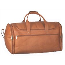 "20.5"" Leather Multi Pocket Travel Duffel"