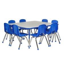 9 Piece Square Activity Table & Chair Set