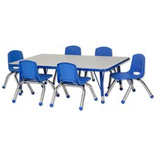 "7 Piece Rectangular Activity Table  & 10"" Chair Set"
