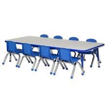 "9 Piece Rectangular Activity Table  & 16"" Chair Set"