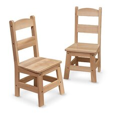 """11"""" Wood Classroom Chair (Set of 2)"""