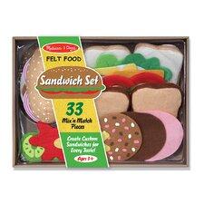 33-Piece Felt Food Sandwich Set