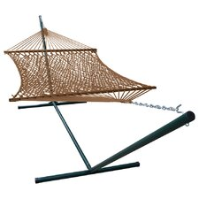 Phat Tommy Super Soft Polyester Wide Hammock with Stand