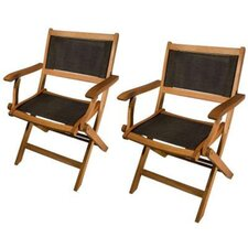 Phat Tommy Folding Dining Arm Chair (Set of 2)