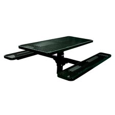 Great price Single Pedestal Inground Picnic Table with Diamond Pattern