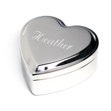 Personalized Heart Keepsake Jewelry Box