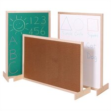Two-Position Room Divider Bulletin Board