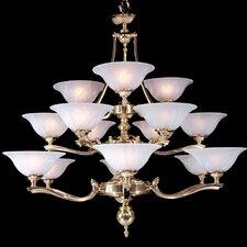Fin De Siecle 15-Light Shaded Chandelier