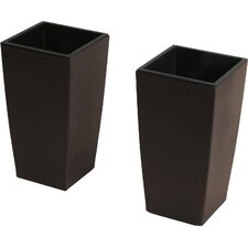 Modena 2-Piece Self-Watering Plastic Pot Planter (Set of 2)