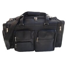 """20"""" Leather Carry-On Duffel with Pockets"""