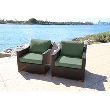 Marcelo Club Chair with Cushion (Set of 2)