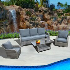 Carlyle 4 Piece Deep Seating Group with Cushions