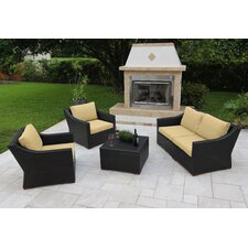 Marcelo 5 Piece Deep Seating Group with Cushions