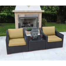 Marcelo 3 Piece Deep Seating Group with Cushions