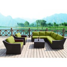 Marcelo 8 Piece Sectional Seating Group with Cushions