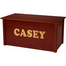 Dark Cherry Toy Box With Cookie Font
