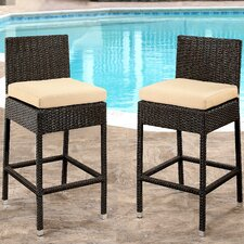 Herry Up Beaty Bar Stool with Cushion (Set of 2)