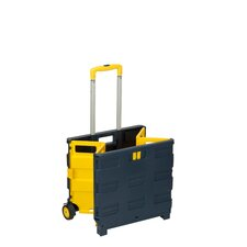Rolling Folding Carry-All Crate Utility Cart