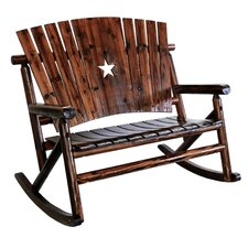 Char-Log Star Double Rocking Chair II