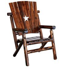 Char-Log Cut Out Star Arm Chair II