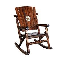 Char-Log Star Medallion Rocking Chair II
