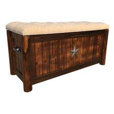 Char-Log Burlap Storage Bench