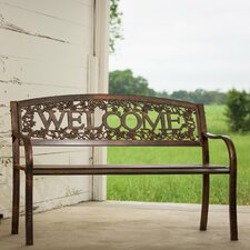 Welcome Steel Garden Bench