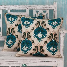 Autumn Muse with Appliqu? and Embroidery Cotton Pillow Cover (Set of 2)