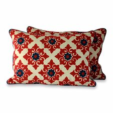 Romantic Embroidered Pillow Cover (Set of 2)