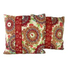 Floral Explosion Beaded Pillow Cover (Set of 2)
