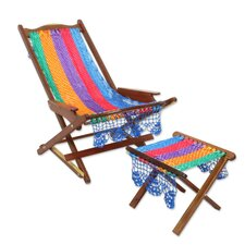 Maya Fiesta in Cancun Deck Chair and Footstool