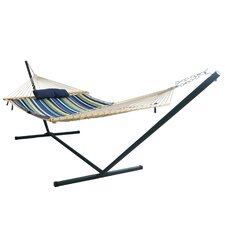 4 Piece Island Retreat Polyester Hammock with Stand Set