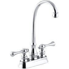 Revival Two-Hole Centerset Bar Sink Faucet with Traditional Lever Handles