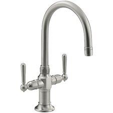 Hirisesingle-Hole Bar Sink Faucet with Lever Handles