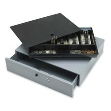Sparco Removable Tray Cash Drawer, Gray