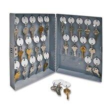 """Secure Key Cabinet, 10""""x3""""x12"""", 28 Keys, Gray"""