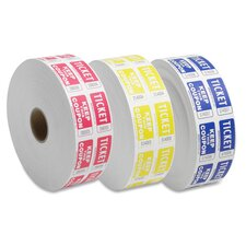Ticket Roll, Double w/Coupon, 2000/RL, White