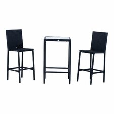 Outsunny 3 Piece Bar Bar Set